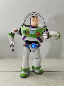 Buzz Lightyear Toy Story Action Firgure Chrome Anti-gravity Belt, Thinkway- RARE