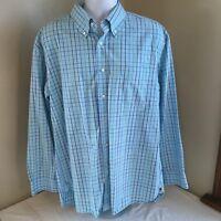 Tommy Hilfiger Mens Button Down Shirt 100% Cotton XL Blue Multicolor Plaid FS!