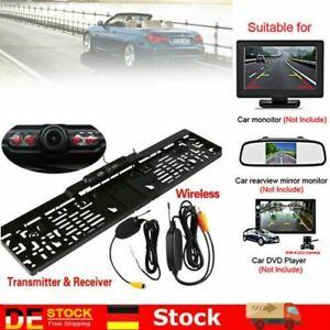 170° IR LED Halter Rückfahrkamera Kennzeichen Set Einparkhilfe System Auto Neu