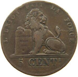 BELGIUM 5 CENTIMES 1838 VERY RARE #t132 641