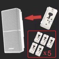 5 New Bose SlideConnect WB-50 Wall Brackets WB50 - White (aka UB20-II / UB-20)