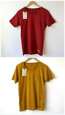 Selected Homme Short Sleeved Dave T Shirts S NEW Burgundy or Mustard