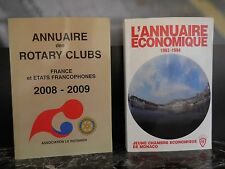 Annuaires Monaco 1993.1994 Rotary clubs 2008.2009 ARTBOOK by PN