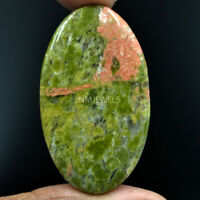 Cts. 58.65 Natural Green Unakite Cabochon Oval Cab Exclusive Loose Gemstone