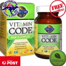 New Garden of Life Vitamin Code Raw B-Complex 60 Vegan Caps Metabolism