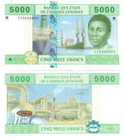 UNC CENTRAL AFRICAN REPUBLIC 5000 Central African Francs (2002) P-309M