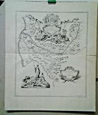 GRAVURE ANCIENNE CARTE  COUR DU CANAL DE PROVENCE MARSEILLE TARASCON BORDE