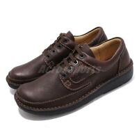 Clarks Nature II Brown Leather Black Men Casual Lace Up Lifestyle Derby Shoes