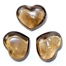 26mm Smoky Quartz Heart Polished Gemstone Crystal Mineral Specimen - China (1PC)