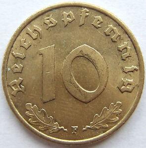 10 Reichspfennig 1938 F in Vorzüglich / Stempelglanz !!!