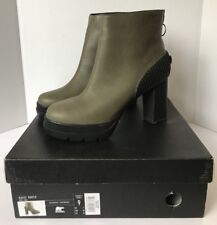 Sorel Dacie Bootie Leather Ankle Heel Fashion Wedge Waterproof Boots Womens 9