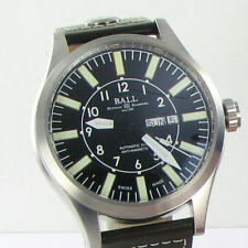 Ball NM1080C-L3-BK Engineer Master II Aviator 46mm Black Dial Leather NWT $2099