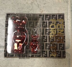 New Bearbrick X Fendi Collaboration 100% & 50% Pink Rare Medicom Be@rbrick Bape