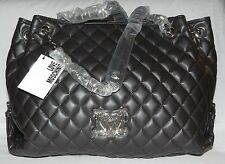 Love Moschino Chain Strap Quilted Brown Faux- Leather Shoulder Bag