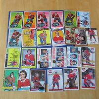 MONTREAL CANADIENS COLLECTION 1963 / 2008 (345 Diff) Cards & Items Guy Lafleur +