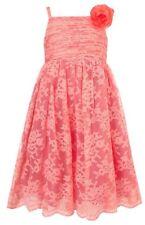 Monsoon Girls Vita Lace Dress Pink Childrens Girls Party Wedding Bridesmaid