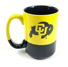 CU Buffaloes University of Colorado Logo Coffee Mug Black and Yellow