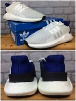 ADIDAS MENS UK 8.5 EU 42 2/3  EQT SUPPORT 93/17 WHITE BLUE HEEL TRAINERS RRP£150