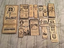 Lot of 14 - Vintage SHIRLEY TEMPLE Newspaper Movie Ads - ALL IN GERMAN