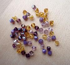 60 Swarovski® Kristall Perlen Xilion Beads 4mm SOMMERMIX 10