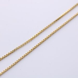 9ct Gold box chain necklace MS1427J