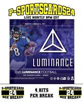 2020 PANINI LUMINANCE FOOTBALL CARDS NFL LIVE HOBBY BOX LIVE BREAK #3796 | 4 HIT