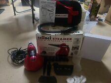 Scunci Steamer SS1000 Hand Held Steam Cleaner with Attachments Bag Box Manual