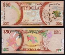 Guyana – 50 Dollars Commemorative 50years of Independence Uncirculated Banknote.