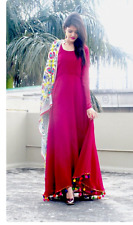 anarkali long frock Maxi dress Indian Bollywood Pakistani shalwar kameez dupatta