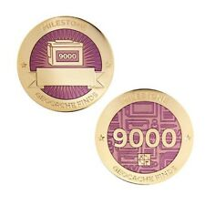 Milestone Geocoin and Tag Set - 9000 Finds Geocaching Official Trackable