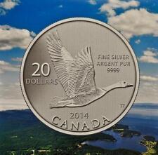 2014 Canada $20 Fine Silver Commemorative Coin - Canada Goose
