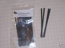 Paper Twist Ties Chocolates / Candles 2 Pkg. of  25 BLACK