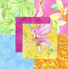 """Dance with the Fairies 30 4"""" fabric squares quilting cotton kids home decor"""