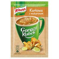 Knorr Goracy Kubek Kurkowa z Makaronem Chanterelle Mushroom Soup & Pasta 5-Pack