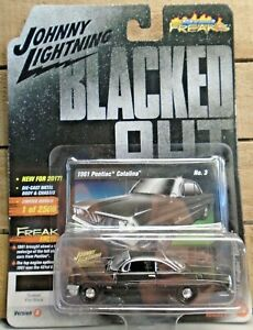 JOHNNY LIGHTNING BLACKED OUT 1961 PONTIAC CATALINA 1:64 DIE CAST CAR FLAT BLACK