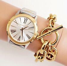 Michael Kors Women's Watch Wristwatch mk3521 Hartman Two Colored New