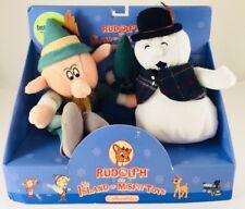 New In Box! Rudolph & Island of Misfit Toys Plush Beanie- Boss Elf & Snowman