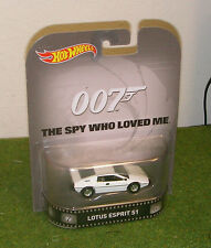 MATTEL HOT WHEELS 1:64th SCALE JAMES BOND 007 SPY WHO LOVED ME LOTUS ESPRIT S1