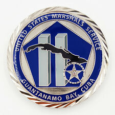 US Marshal Terrorist Detainee Task Force Guantanamo Bay Challenge Coin!!
