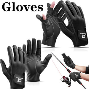 Outdoor Sports Fishing Gloves Leather Men Women Bicycle Riding Windproof Mitten