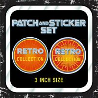 "Kenner STAR WARS ""RETRO COLLECTION"" Vintage logo patch & sticker set GLOBAL"