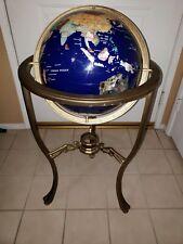 "Antique 36"" Lapis Gemstone Globe Blue (Original Handcrafted Gemstones)"
