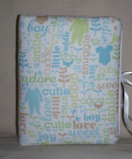 "Baby Boy Children Handcrafted Photo Album 5 1/2"":X7"" Holds 80 4""X6"" NEW LBlue"