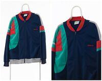 90s Vintage Mens ADIDAS ORIGINALS Tracksuit Track Top Jacket Navy Blue Size L