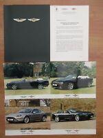 Aston Martin London Motor Show 1997 Press Pack DB7 & Debut Of The V8 Volante