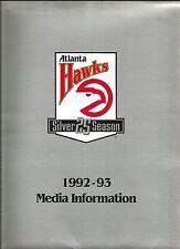 1992 Atlanta Hawks-Detroit Pistons Game Notes - NBA Reg Season Game + Pass/Tix