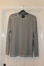 Mens Large Long Sleeve T Shirt Abercrombie & Fitch Grey Mesh Back BNWT!