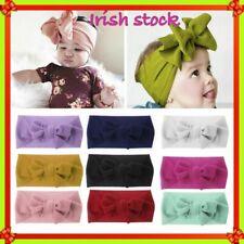 2 x Adjustable Big Bow Turban headband Top Knot Baby Wide Headwrap Baby Girls