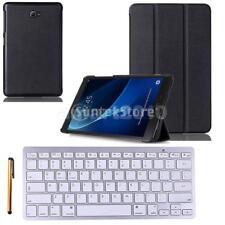 Wireless Bluetooth Keyboard Cover+Stylus for Samsung Galaxy Tab A 10.1 Black