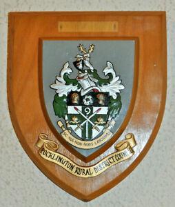 Pocklington Rural District Council plaque shield crest coat of arms